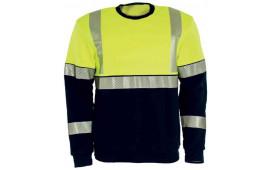 SWEATSHIRT TRANEMO 5075-89 GUL MARIN FLAMVARSEL KL1 STL S