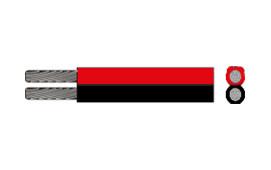 Kabel, 2 x 1.5 röd-svart  50 m