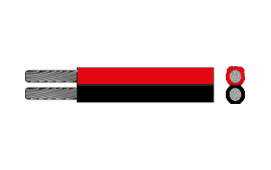 Kabel, 2 x 2.5 röd-svart 50 m