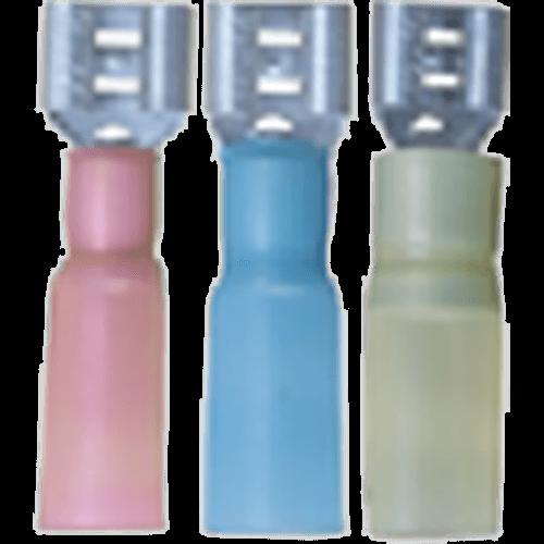 Flatstifthona (Presshylsa med krympslang) Blå 100st